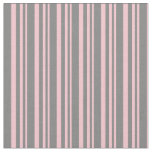 [ Thumbnail: Pink and Gray Lines Pattern Fabric ]