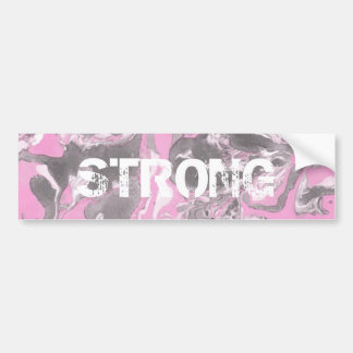 Pink and gray Marble Bumper Sticker