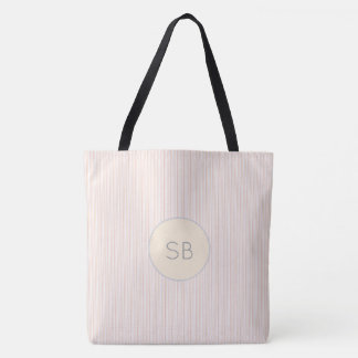 Pink and Gray Monogram Initials Name Your Own Tote Bag
