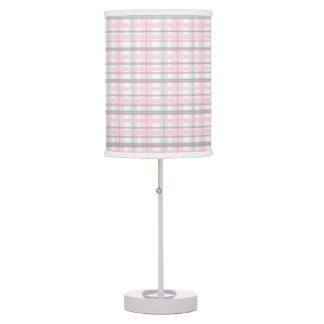 Pink and Gray Nursery Bedroom lamp shade grey