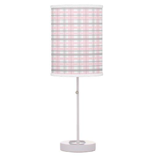 Pink And Gray Nursery Bedroom Lamp Shade Grey