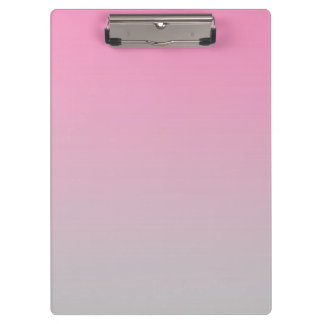 """""""Pink And Gray Ombre"""" Clipboard"""