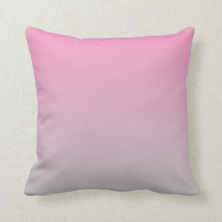 """Pink And Gray Ombre"" Throw Pillow"