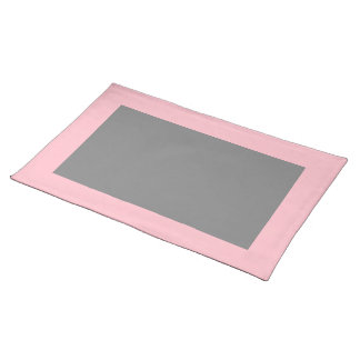Pink and Gray Placemat Cloth Place Mat
