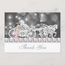 Pink and Gray Princess Baby Shower Thank You