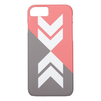 Pink and Gray Slash Arrow, Modern, Sleek iPhone 7 Case
