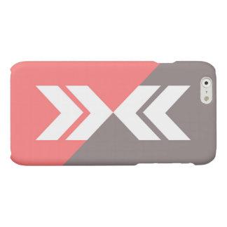 Pink and Gray Slash Arrow, Modern, Sleek Matte iPhone 6 Case