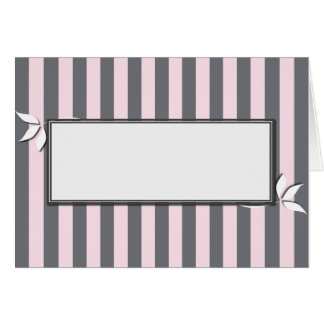 Pink and Gray Striped Card