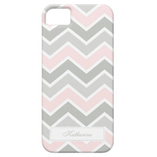Pink and Gray Zigzag Chevron Pattern iPhone 5 Covers