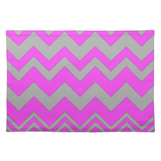 Pink and Gray ZigZag Chevron Placemats