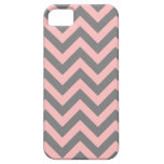 Pink and Gray Zigzag iPhone 5 Covers