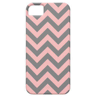 Pink and Gray Zigzag iPhone SE/5/5s Case