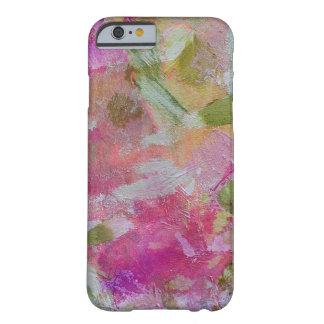Pink and green abstract art pillow cell case barely there iPhone 6 case