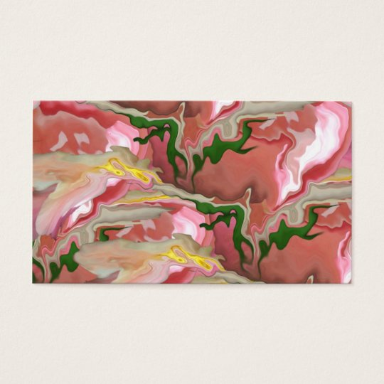 Pink and Green Abstract Business Card Template
