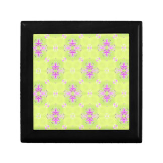 Pink and Green Abstract Pattern Trinket Boxes