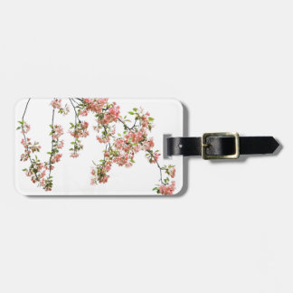 Pink and Green Apple Blossoms Tags For Luggage