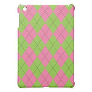 Pink and Green Argyle iPad Mini Cover