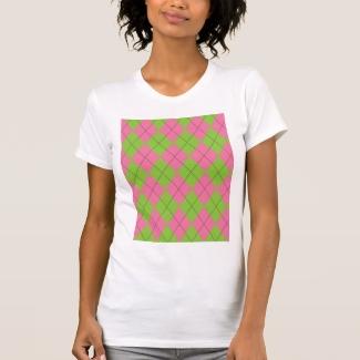 Pink and Green Argyle Shirt