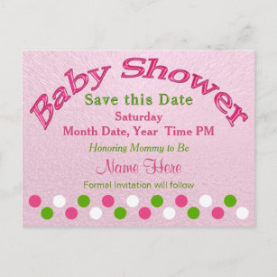 Baby Shower Save The Date Cards Zazzle
