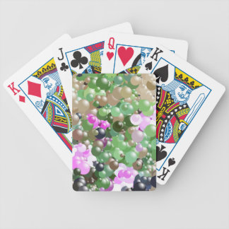 Pink and Green Balls Bicycle Playing Cards