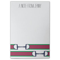 Pink and Green Bit Ribbon Pattern Post-it Notes