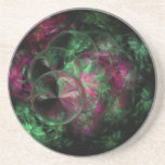 Pink and green bubble fractal coaster