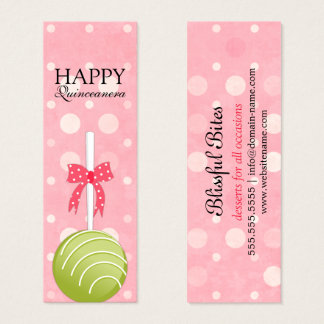 Pink and Green Cake Pops Happy Quinceanera Tags
