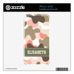 Pink and Green Camo iPhone 4 / 4s Skin Skin For iPhone 4S