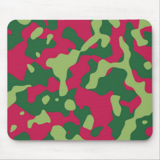 Pink and Green Camo Mouse Pad