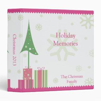 Pink and Green Christmas Tree Photo Album Binder