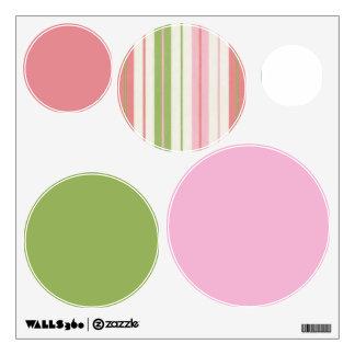 Pink And Green Circles Wall Decal