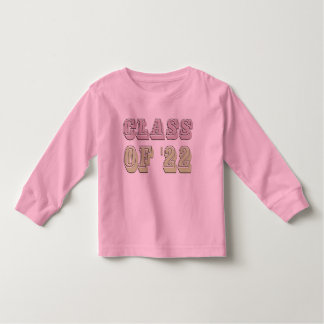 Pink and Green Class of 2022 Toddler T-shirt