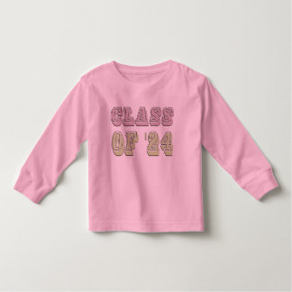 Pink and Green Class of 2024 Toddler T-shirt