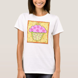 Pink and Green Cupcake Tee Shirt