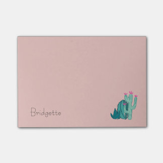 Pink and Green Cute Cactus Post-it Notes