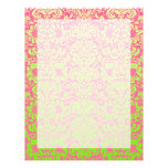 Pink and Green Damask Letterhead Design