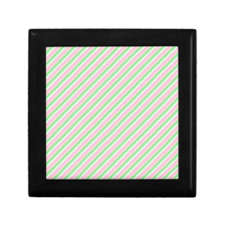 Pink and Green Diagonal Stripes Gift Boxes