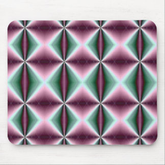 Pink and Green Diamond Patterned Mousepad