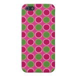 Pink and Green Dots iPhone 5 Cover