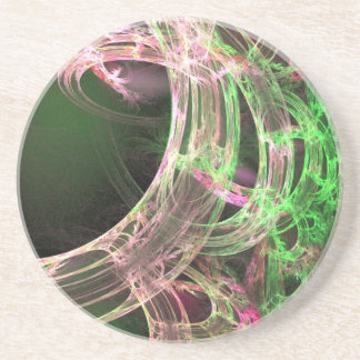 Pink and Green Energy Sandstone Coaster