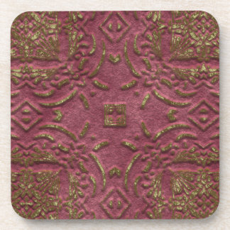 Pink and Green Faux Stone Coasters