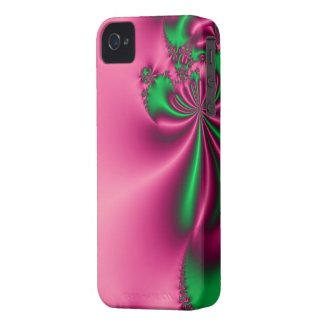 Pink and Green Floral Flow Case-Mate iPhone 4 Cases