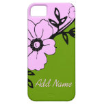 Pink and Green Floral iPhone 5 Cases