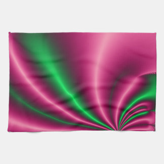 Pink and Green Flow Hand Towel