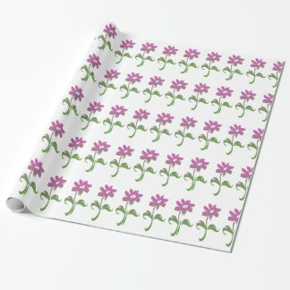 Pink and Green Flower Garden Gift Wrapping Paper