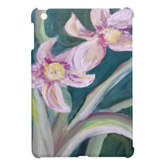 pink and green flowers iPad mini cases
