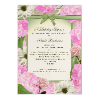 Pink and Green Garden Party Birthday Card