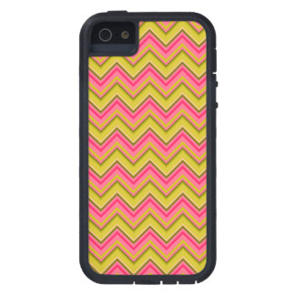Pink and Green Garden Rose Chevron Case For iPhone SE/5/5s