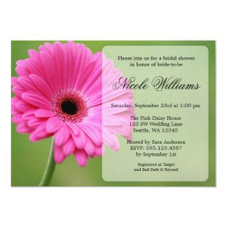 Pink and Green Gerbera Daisy Bridal Shower Card