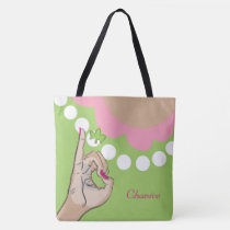 Pink and green girly bag